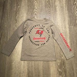 NFL Tampa Buccaneers Kids Tee Gray Size Medium 5-6